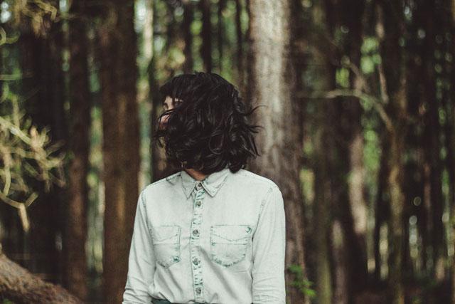森のなかの森ガール