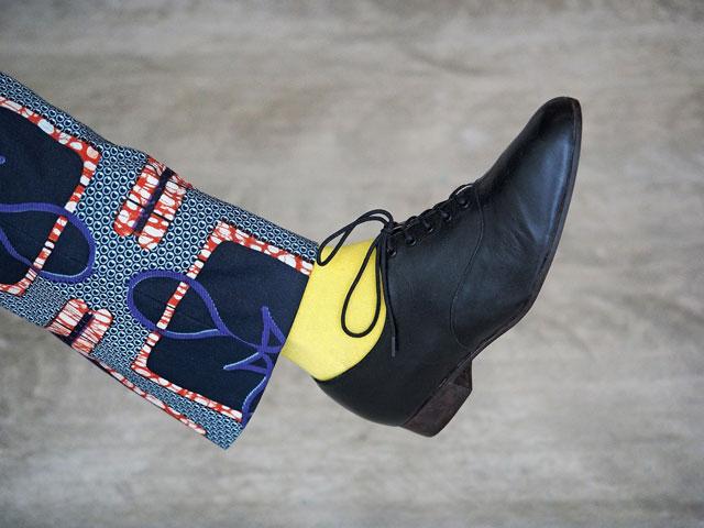個性的な靴下コーデ