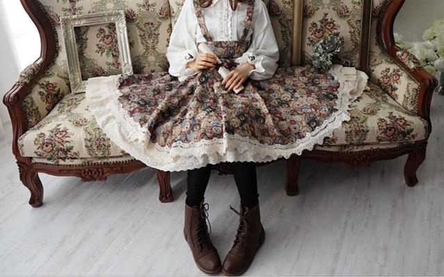 ワンピース専門店favorite 猫柄のふんわりとしたスカート