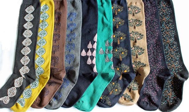 北欧セレクトFynda 北欧テキスタイルの靴下
