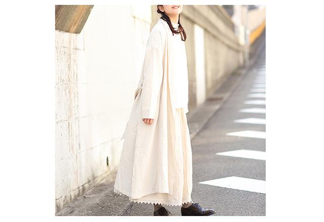 jolie clothes(ジョリークローズ) ダブルカーゼのローブコート
